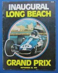 1975 INAUGURAL LONG BEACH GRAND PRIX Program, Formula 5000 Entries, Lap Chart