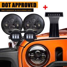 LED Headlight+4'' Fog Light+Brake Light  KIT Combo for Wrangler JK 07-17