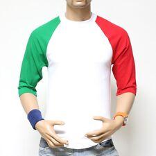 Pro Club 3/4 Sleeve Plain Baseball Raglan T-Shirt Lot Men Sports Team Jersey Tee