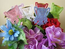 """Floral Picks YOU'RE THE GREATEST Assorted Colors 11"""" Pk/6 New!"""