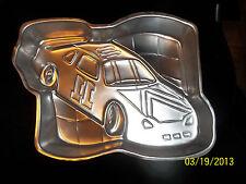 Wilton RACING Race Car Checkered Flag NASCAR Cake Pan Mold + Instructions