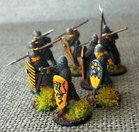 SAGA Painted FLEMISH MERCENARIES or Norman 28mm Metal Miniatures Figures
