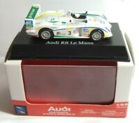 NEW RAY 1:64 DIECAST AUDI R8 - LE MANS 24 HOURS TEAM CHAMPION - 06716 - BOXED