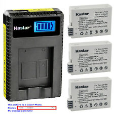Kastar Battery LCD USB Charger for Canon LP-E8 E8 Battery LC-E8 LC-E8E Charger