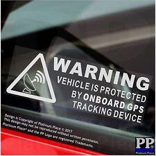 5 x Dispositivo de rastreo GPS advertencia a bordo pegatinas-Coche, Furgoneta, barco, bici, firme, seguro