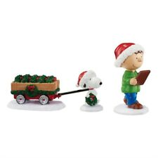Peanuts Checking the List Figurine Set, Christmas, New In Box, 4055829