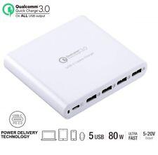 Premium Universal 5 port 80w USB-C Laptop / Tablet / Smart Phone Charger