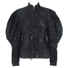 b528e742587a Dries Van Noten Black Honeycomb Exquisitely Glass Beaded Jacket FR40 UK12