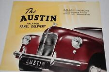 """1950's Austin """"A40"""" Half-Ton Panel Delivery Truck Factory Brochure"""