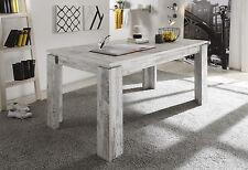 Esstisch Tisch 160 x 90 cm ausziehbar Canyon white Pine Woody 93-00802