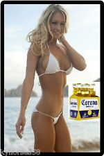 Corona Beer Sexy Babe In White Bikini Refrigerator Magnet