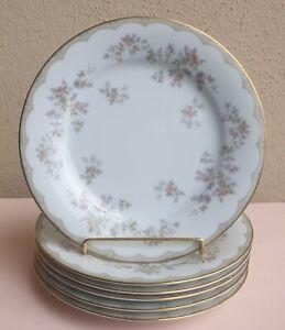 SET 6 VINTAGE NORITAKE ROBERTA FLORAL 26.5cm DINNER PLATES MADE IN JAPAN #6012