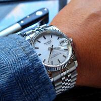 36mm Parnis Silber dial Saphirglas Miyota Automatisch movement Uhr men's Watch