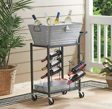 Better Homes and Gardens Galvanized Steel Beverage Cart