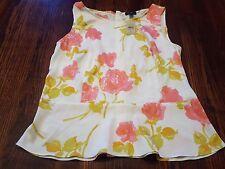 Ann Taylor Women's Tank Top Shirt Pullover Sleeveless Size 4 NEW White Pink