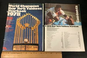 1978 VINTAGE OFFICIAL BASEBALL NEW YORK YANKEES YEARBOOK *WORLD CHAMPION* 4121