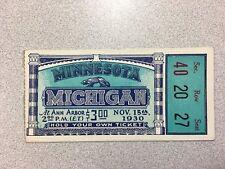 Michigan vs. Minnesota 1930 Football Ticket Stub- RARE! Big House Ann Arbor