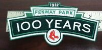 Boston Red Sox Fenway park 100 years logo anniversary jersey patch