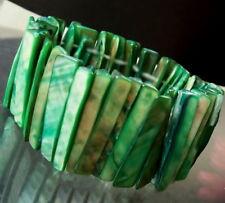 Pulsera 3,5cm Auténtico nácar Verde de Perlas Cuentas decoración A1250