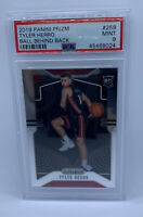 "Tyler Herro 2019-20 Rookie Prizm Variation ""Ball Behind Back"" PSA 9 RC SP #259"