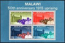MALAWI 1965 50th Anniversary of 1915 Uprising. Souvenir Sheet, MNH