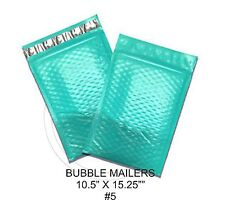New listing (10) Large Teal Colored Decorative Bubble Mailers 10.5 X 15 Size #5