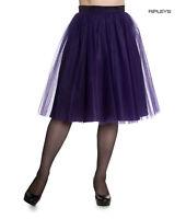 Hell Bunny Princess Fairy 50s Skirt BALLERINA Purple Tulle Net All Sizes