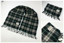 VTG Pendleton Tartan Green 100% Virgin Wool Plaid Scarf Made in USA