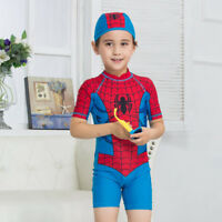 Kids Swimsuit Boy's Spider-man One-piece Swimming Surf Swimwear Beach Costume