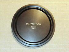 OLYMPUS OM ZUIKO 72mm METAL LENS CAP FOR 18mm F3.5 WITH 49-72 ADAPTER