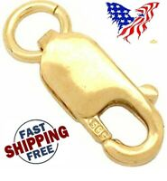 One 14K Solid Yellow Gold Jewelry Lobster Clasp 8x3mm