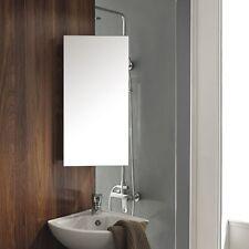 Corner Mirror Cabinet Stainless Steel Wall Mounted Shelf Storage Bathroom
