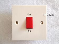 45a Dp Interruptor Blanco Estándar Individual Plato Rojo ROCKER por Beige