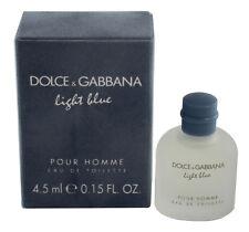 Light Blue By Dolce & Gabbana 0.15oz/4.5ml Edt Splash Mini For Men In Box