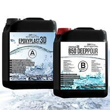 9,0 KG Epoxidharz EpoxyPlast 3D B50 DEEP POUR Ultra Glasklar Gießharz f. Tische