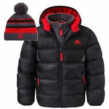 Snozu Boys' Kids Jacket w/ Hat - BLACK (Select Size: 2T-6) * FAST SHIPPING *