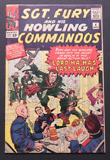 Sgt Fury and His Howling Commandos 4, Kirby cover and art, Nov 1963