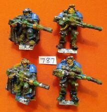 Warhammer 40,000 4 Man Space Marine Scouts Squad METAL Snipers Games Workshop