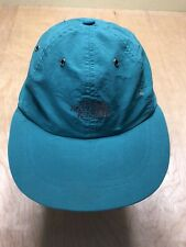 Vintage North Face Hat Turquoise 5 Panel River Skate Skater Strapback