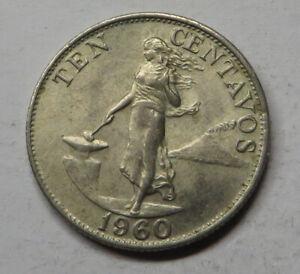 Philippines 10 Centavos 1960 Copper-Nickel-Zinc KM#188 UNC