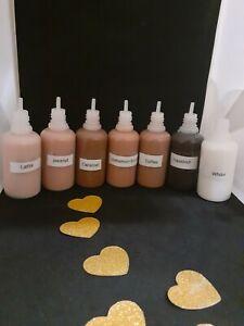 Liquid pigment 6 colors set for lip gloss
