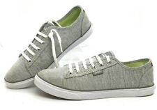 VANS 7.5 Ortholite Sneakers GRAY JERSEY KNIT w/ LEATHER Accent & WAFFLE Soles