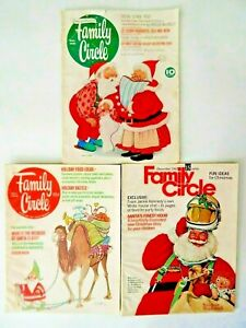 Lot of 3 Family Circle Magazines 1961 - 1967