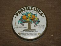 VINTAGE PASTILLINES FRENCH ASSORTED BONBON DROPS CANDY   TIN CAN  *EMPTY*