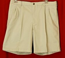 LANDS END Beige Khaki Traditional Fit Stretch Band Waist Men's Shorts 37 x 8.5