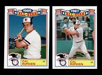 CAL RIPKEN JR 1987 & 1988 TOPPS GLOSSY ALL-STAR #16 & #5 ORIOLES HOF LOT (1986)