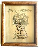 Vintage Betty Miller Full Fashioned Silk Hosiery Stockings Logo on Fabric Framed