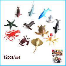 12pcs / set plástico marino modelo juguete animales Océano Delfín Niño Juguete