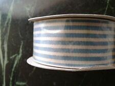 Stampin up! 10 Yards Striped Marina Mist Grosgrain Ribbon