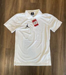 Nike Dri-Fit White Air Jordan Jumpman Polo Shirt  #AO9225-341 Size XS (X-Small)